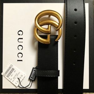 New Gucci GG Double G Logo Belt Italianmadecrafted